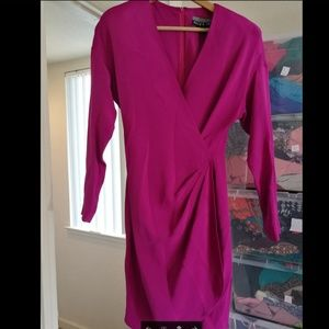100% SILK Ellen Tracy pink dress, Like new